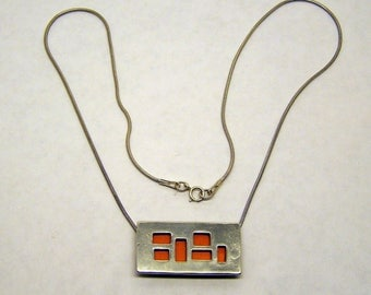 sterling silver copper necklace #110