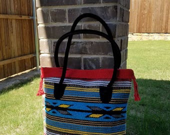 Southwestern Tote, Large Woven Tote, Southwest Design Tote, Handwoven Tote, Woven Tote, Large Native Tote,  Native Tote, Gift for Her, Gift