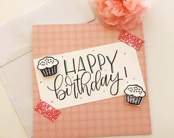 Happy Birthday Card, Birthday Card, Happy Birthday, Handmade Card, Birthday, Greeting Card, Birthday Cards