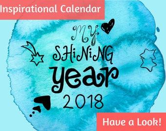 2018 Calendar, 2018 wall calendar, calendar 2018, 2018 monthly calendar, wall calendar, christmas gift, new year gift, 2018 calendar wall