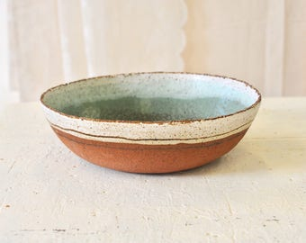 Ceramic bowl, Ceramic bowl, Green bowl, rustic ceramic, Salad bowl, Large bowl, Fruit bowl, Serving bowl, Pottery bowl, rustic bowl,