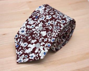 Brown floral mens tie Wedding Tie Men's tie Necktie for Men 179tc