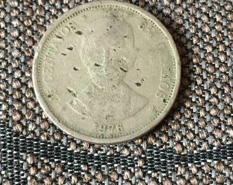 1976 Dominican Republic 25 centavos