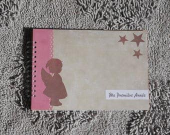 Photo album scrapbook A4 for photos from newborn to 12 months - little angel Theme