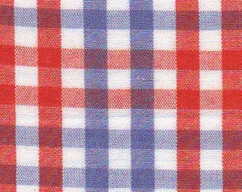 """Orange and Purple Check Fabric from Fabric Finders, Gingham Fabric, Plaid Fabric, Fabric Finders Fabrics, Check Fabric, Cotton 60"""" width"""