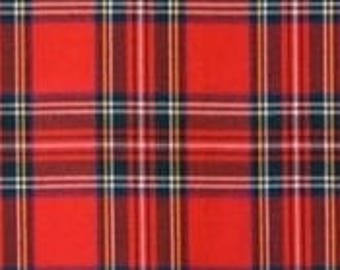 """Winterfleece Stewart Plaid Red Fabric from Winham, Fleece Fabric, Winterfleece Fabric, Plaid FleeceFabric, RedFabric, 100%Polyester, 58""""/60"""""""