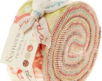 Last One!!! Somerset Jelly Roll by Fig Tree & Co. (Joanna Figueroa) for Moda Fabrics - Somerset Jelly Roll - Joanna Figueroa Fabrics - Moda
