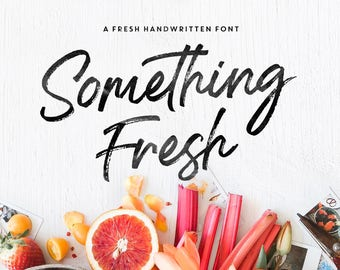 Something Fresh Brush Font - Handwritten Font / Brush Fonts / Feminine / Wedding / Bouncy / Fonts