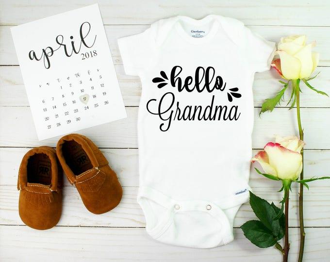 Hello Grandma Onesie