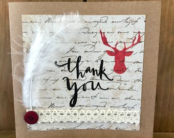 Stag Thank You Card