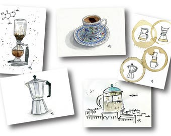 Coffee Postcards Collection