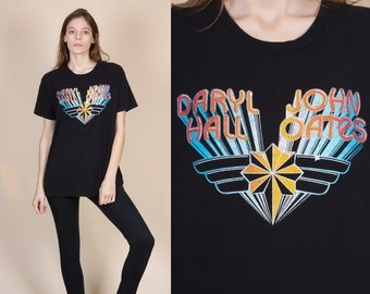 Vintage Hall & Oates T Shirt - Large // 90s Graphic Band Tee