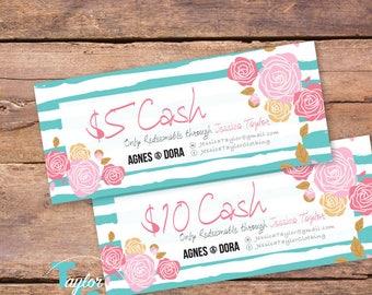 Agnes & Dora Cash - Agnes and Dora Dollars - Agnes and Dora Certificates - Agnes and Dora Marketing - Agnes Dora Marketing Kit