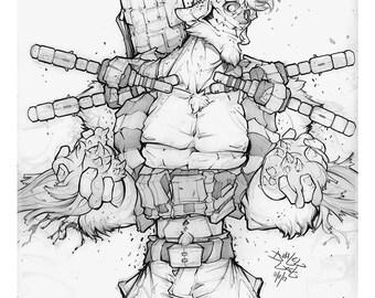 Velthaneus Pencil Print 005
