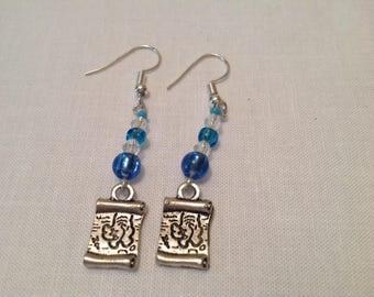 Treasure Map Beaded earrings