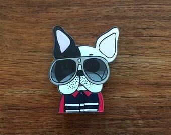 Cool Bulldog - Acrylic badge