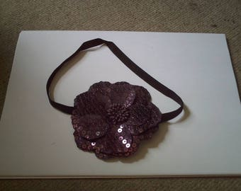 pretty purple sequins and flower headband