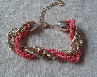 """Bracelet """"roses and string pearls duo"""""""