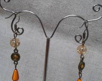 "Earrings ""orange harmony"""