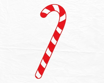 Candy Cane SVG, Christmas SVG, Christmas Candy  SVG, Silhouette Cut Files, Cricut Cut File