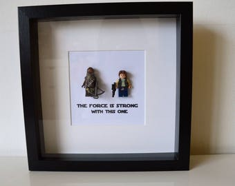Shadow Box Frame//Star Wars//Han Solo//Cewbacca//Minifigures//Personalise//Geek//Lego//Gift/Fathers Day/Anniversary/Engagement//Birthday