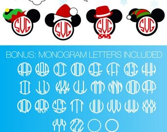 Mickey Santa Svg Disney Christmas Svg Hipster Santa Svg Christmas Mickey in Santa Hat Svg Christmas Cricut Downloadable Silhouette Svg Dxf