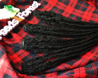 Black clip in dreads natural look synthetic dreads double ended dreads on clip in extensions creative gifts for teenagers