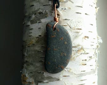 Crescent Moon Stone Pendant