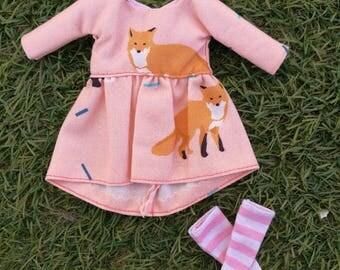 Fox dress for Blythe doll, Blythe dress Fox