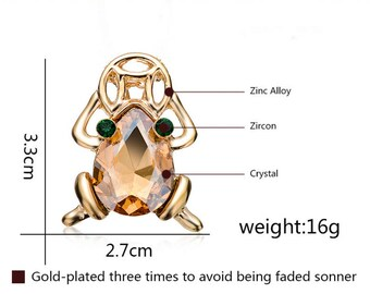 1pcs Fashion Gold Plated Jewelry Animal Charms Pendant Cute Frog Charm ,Crystal Frog Charm Pendants Charm For Necklace Jewelry