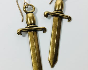 Oxidized Brass Swords. By Ten Dollar Studio, where all items are always Ten Dollars