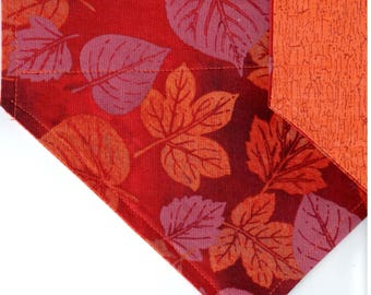 Autumn Leaves (Russet) Bandana | Dog Bandana | Puppy Bandana | Over the Collar Dog Bandanas | Custom Dog Bandana