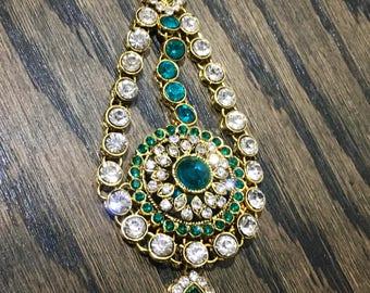 Glorious Bollywood maang paasa, indian head dress, indian hair accessory, indian tikka bindi, bajirao mastani, tika