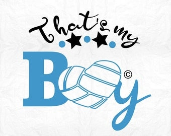 that's my boy volleyball SVG Clipart Cut Files Silhouette Cameo Svg for Cricut and Vinyl File cutting Digital cuts file DXF Png Pdf Eps