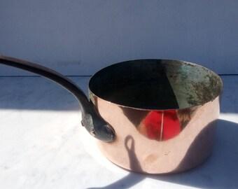 french vintage copper pot