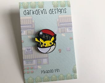 Pikaboo Pokemon Pikachu Pokeball Enamel Pin! HOLIDAY SALE!!