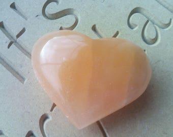 Orange Red Selenite Heart Crystal Healing Reiki Wicca Pagan