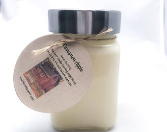 Cinnamon Apple Scented Soy Candle 9oz, Soy Candles for Sale  Scented Candles, Candles, Soy Wax, Soy Candles Homemade, Apple Candles,
