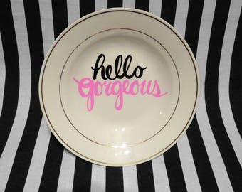 "FREE SHIPPING - Cheeky China, ""Hello Gorgeous"" Jewelry Holder"