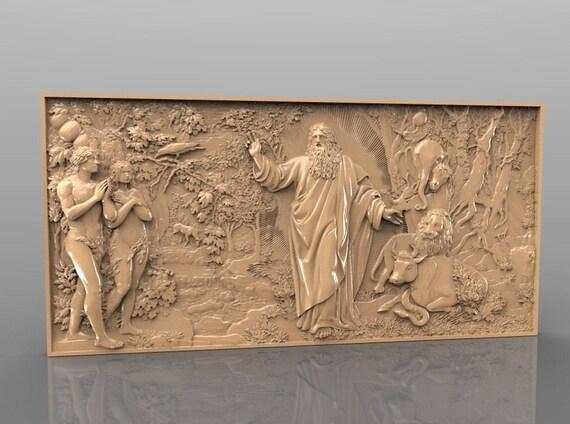 Stl d vectric aspire cut artcam model for cnc carving