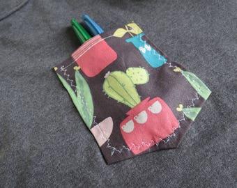 Gray Cactus Pocket Tank Top