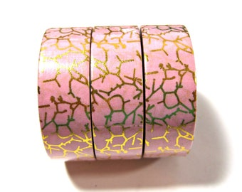 Washi Tape - Decorative Tape - Paper Tape - Planner Tape - Foil Washi Tape - Pink Marble Washi - Deco Paper Tape - Planner Washi Tape