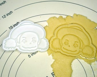 Mei in Totoro Cookie Cutter and Stamp