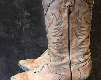 Tony Lama boots size 81/2 vintage cowboy boots used