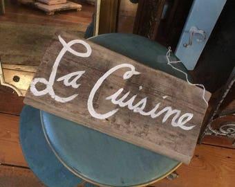 La cuisine sign