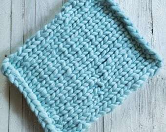 Layering Blanket - Bump Blanket - Chunky Knit Blanket - Posing Blanket - Prop Blanket - Newborn Prop - Newborn Prop Blanket - Mini Blanket