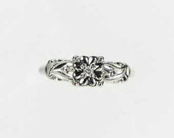 Vintage 1940s Diamond Engagement Ring .03ct