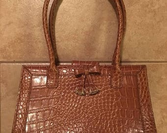 10% Liz Claiborne Light Brown Texturized Leather Purse Handbag