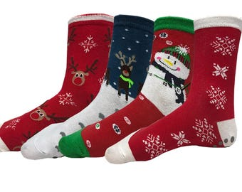 Holiday Edition Yoga, Barre, Pilates, Grip Socks! Perfect Stocking Stuffer for Holidays! Great for Ugly Sweater Parties!