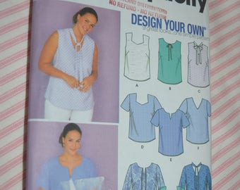 Simplicity 9585 Design your own Womens Blouse Sewing Pattern - UNCUT - Size 18W - 24W